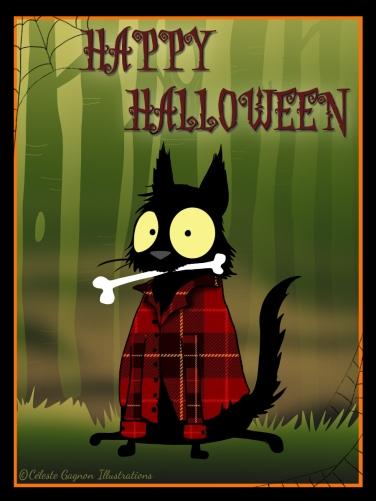 Echo werewolf Halloween cards