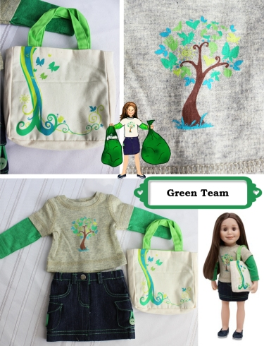 green team collage