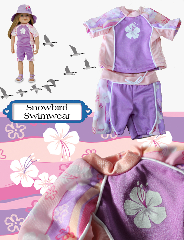 Snowbird Swimwear collage