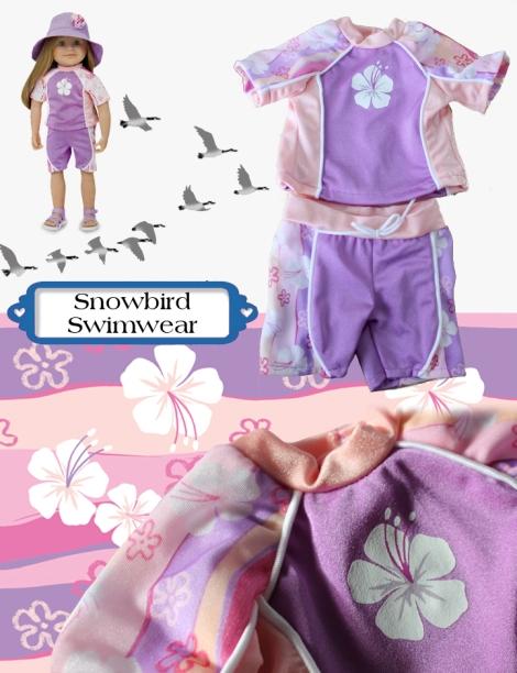 Snowbird Swimwear collage