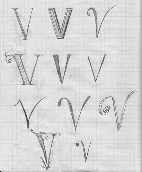 page of V