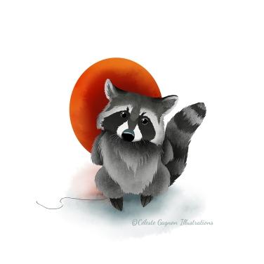 Raccoon balloon_sml