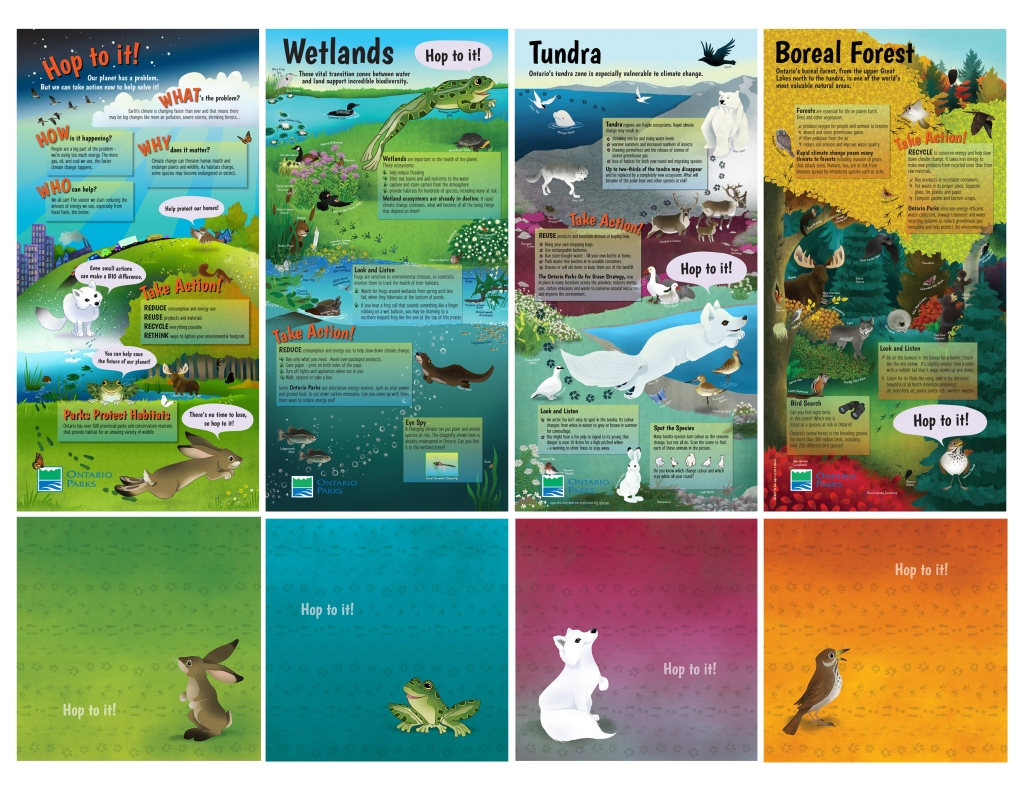 Ontario Parks posters as a set
